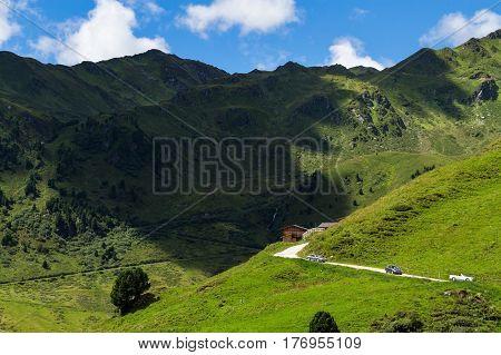 Zillertal High Road. Austria Tyrol Tirol Zillertaler Hoehenstrasse