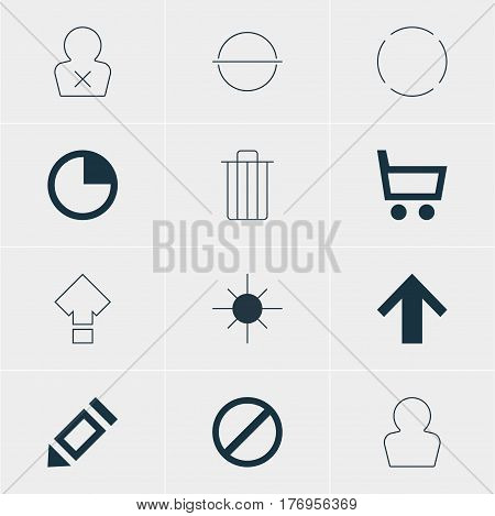 Vector Illustration Of 12 Member Icons. Editable Pack Of Repeat, Full Brightness, Displacement And Other Elements.