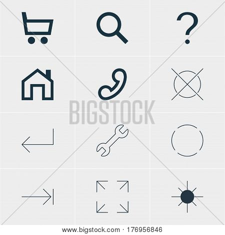 Vector Illustration Of 12 User Icons. Editable Pack Of Accsess, Full Brightness, Repeat And Other Elements.
