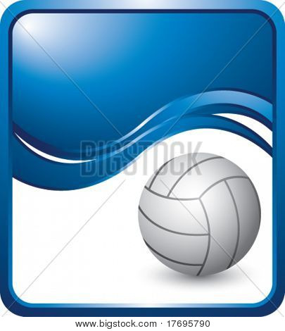 volleyball on modern style wave background