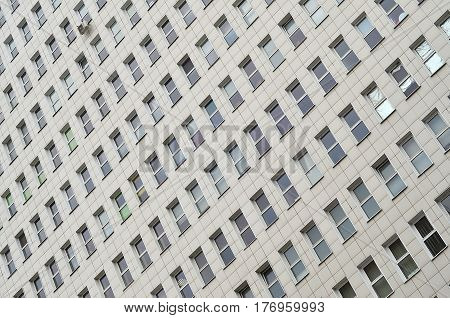 Many Windows From A Multi-storey Office Building