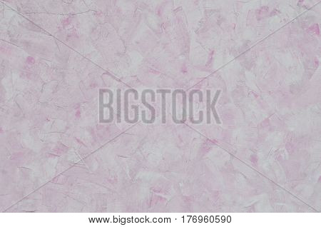 Weathered And Stained Old Pink Plaster Wall Texture