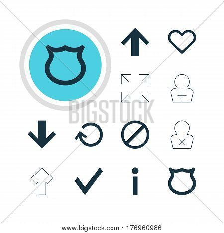 Vector Illustration Of 12 Member Icons. Editable Pack Of Register Account, Info, Upward And Other Elements.