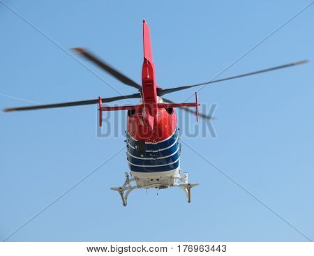 Helicopter During Flight
