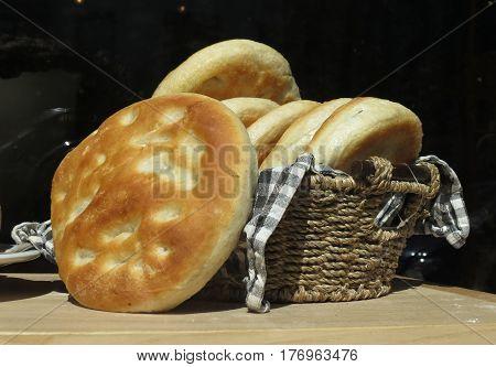Pizza Bread Food In A Dish