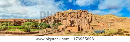View of Ait Ben Haddou village, a UNESCO world heritage site in Morocco