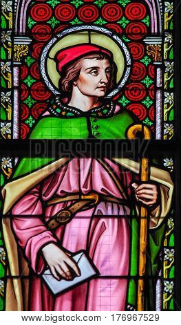 Stained Glass - Saint Alexius Or Alexis Of Rome