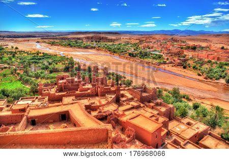 Landscape near Ait Ben Haddou village in Morocco, North Africa