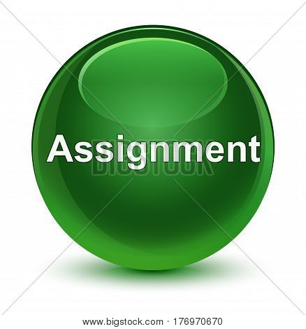 Assignment Glassy Soft Green Round Button