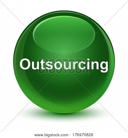 Outsourcing Glassy Soft Green Round Button