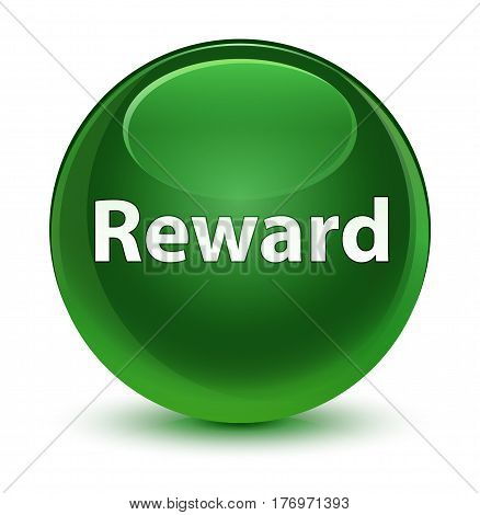 Reward Glassy Soft Green Round Button