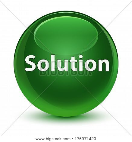 Solution Glassy Soft Green Round Button