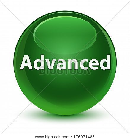 Advanced Glassy Soft Green Round Button