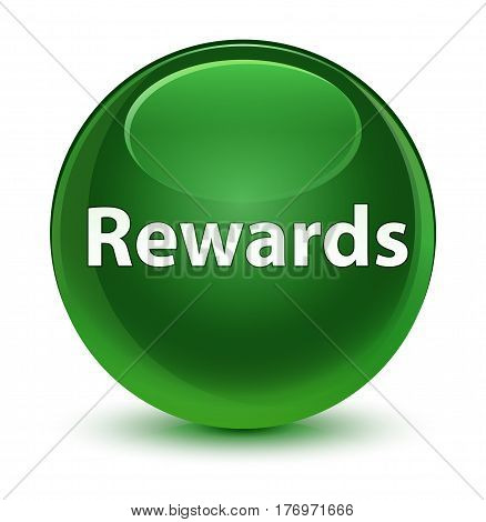 Rewards Glassy Soft Green Round Button