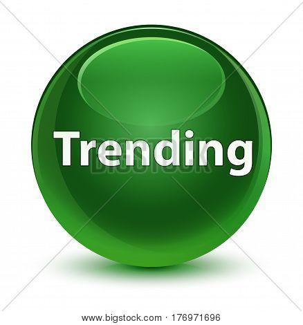 Trending Glassy Soft Green Round Button