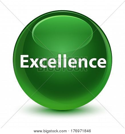 Excellence Glassy Soft Green Round Button