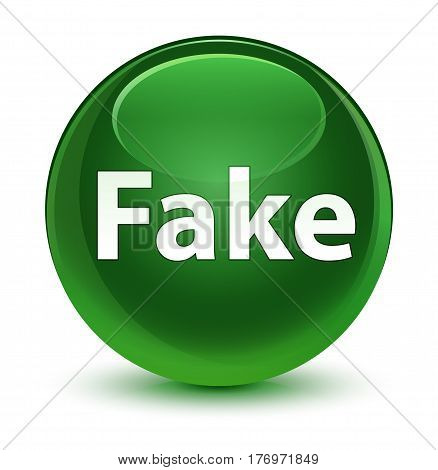 Fake Glassy Soft Green Round Button