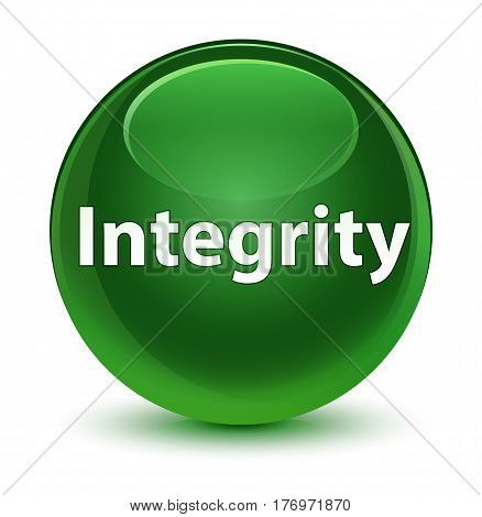 Integrity Glassy Soft Green Round Button