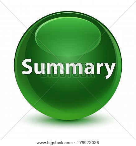 Summary Glassy Soft Green Round Button