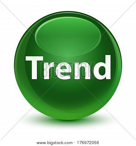 Trend Glassy Soft Green Round Button