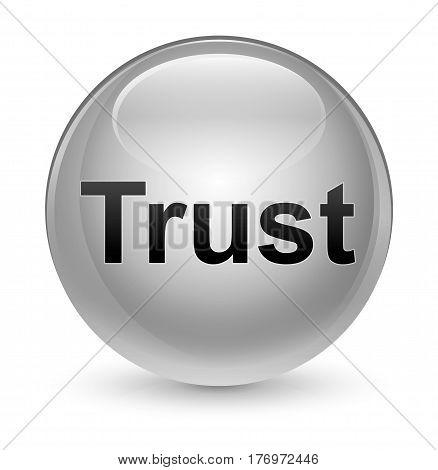 Trust Glassy White Round Button