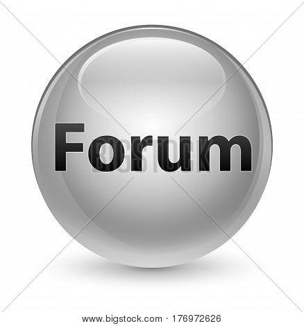 Forum Glassy White Round Button