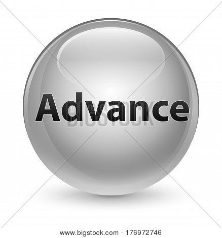 Advance Glassy White Round Button