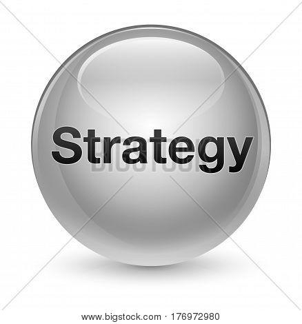 Strategy Glassy White Round Button
