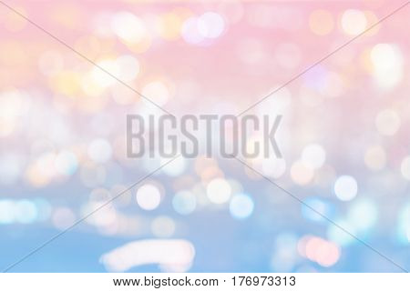 abstract bokeh light of cityscape on sweet color filter backgroun - can use to display or montage on product