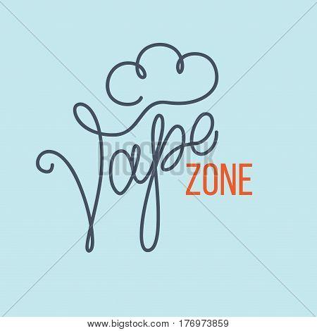 Original Handwritten Text Vape Zone.