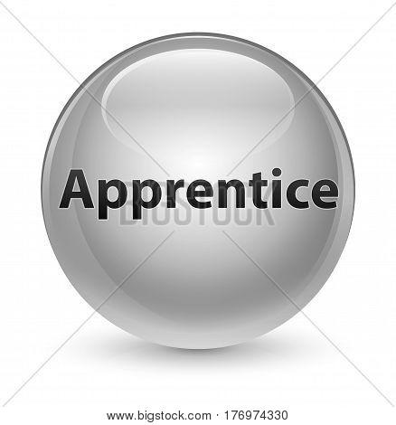 Apprentice Glassy White Round Button