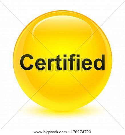 Certified Glassy Yellow Round Button