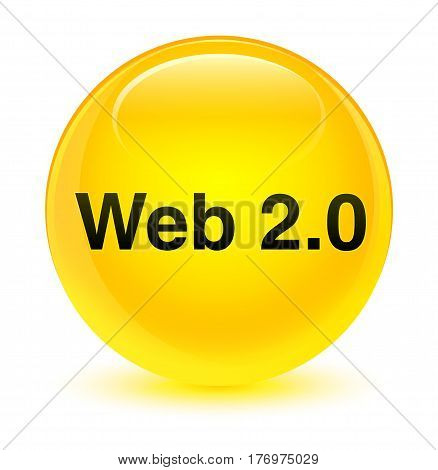 Web 2.0 Glassy Yellow Round Button