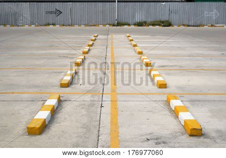 Parking and street space of Concrete road