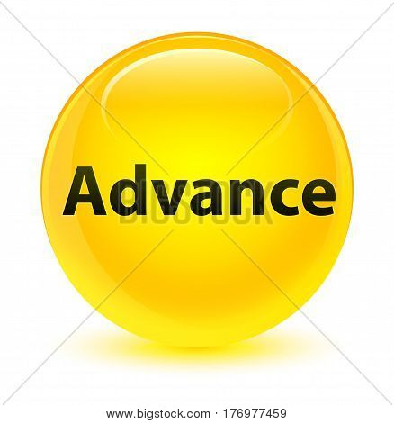 Advance Glassy Yellow Round Button