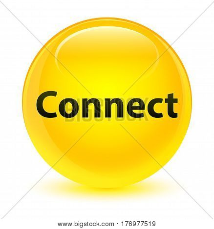 Connect Glassy Yellow Round Button