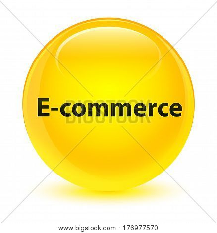 E-commerce Glassy Yellow Round Button