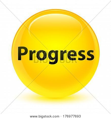 Progress Glassy Yellow Round Button