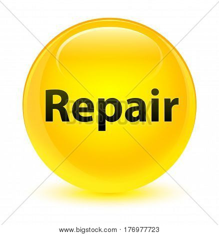 Repair Glassy Yellow Round Button