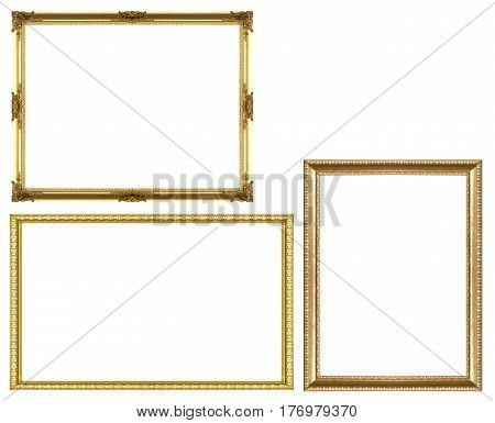 Set Of Golden Vintage Frame