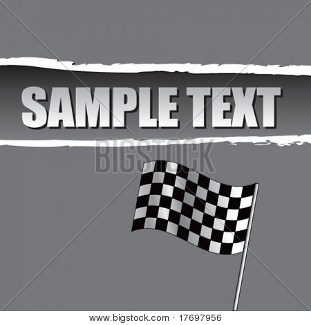 racing checkered flag on ripped background