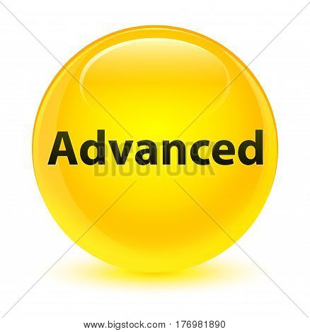 Advanced Glassy Yellow Round Button