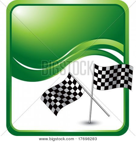 racing checkered flags on modern wave background