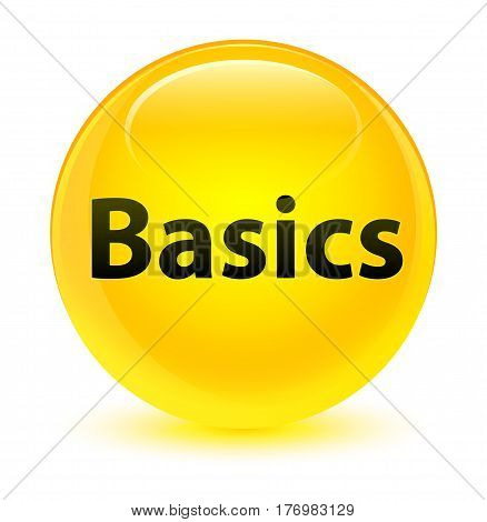Basics Glassy Yellow Round Button