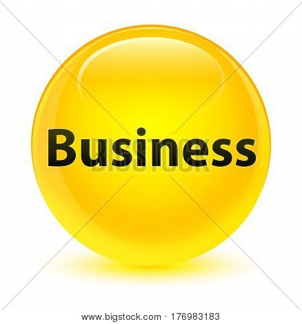 Business Glassy Yellow Round Button