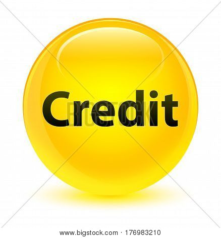 Credit Glassy Yellow Round Button