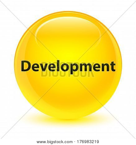 Development Glassy Yellow Round Button