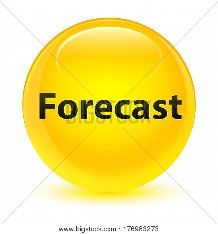 Forecast Glassy Yellow Round Button