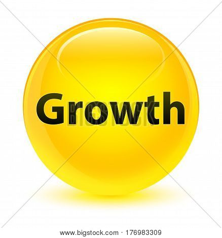 Growth Glassy Yellow Round Button