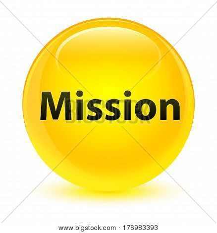 Mission Glassy Yellow Round Button